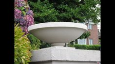 As with many of his planter designs the Dana House Vase was installed in several places surrounding the house. The very large diameter of the urn makes it quite suitable for a large planting area or water feature. Garden Urns, Garden Items, Garden Fountains, Urn Planters, Outdoor Planters, Outdoor Decor, Concrete Garden, Concrete Planters, Concrete Projects