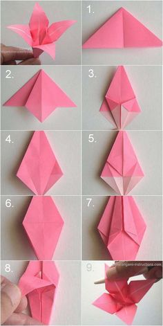 DIY Origani Lily diy craft crafts easy crafts diy ideas diy crafts diy flowers kids crafts craft flowers paper crafts origami