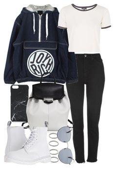 """""""Untitled #21185"""" by florencia95 ❤ liked on Polyvore featuring Native Union, Topshop, Forever 21, Joyrich, Alexander Wang, Dr. Martens and Original Penguin"""