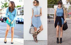 Looks Com Vestido Jeans - Pesquisa Google