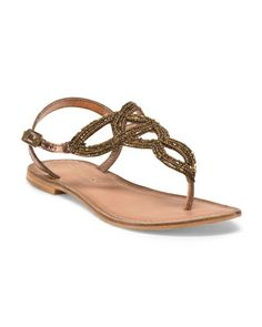 11ae4d293fac1 Leather Flat Sandal Leather Sandals Flat
