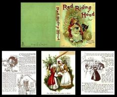 Little Red Riding Hood Book - FREE printable inside pages and cover for dollhouse doll house mini miniature book Doll House Crafts, Doll Crafts, Paper Crafts, Mini Books, Barbie House, Little Books, Miniature Dolls, Dollhouse Miniatures, Dollhouse Ideas