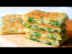 This is the MOST DELICIOUS I've ever eaten! No yeast No oven! Everyone can make this at home! - YouTube Veggie Recipes, Asian Recipes, Appetizer Recipes, Cooking Recipes, Ethnic Recipes, Good Food, Yummy Food, Asian Cooking, Quick Easy Meals
