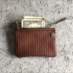 VIP Wallet - Brown Braided Leather