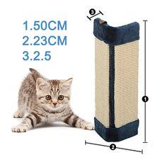 Cat Pet Wall Corner Scratching Scratch Board Mat Post Tree Scratcher Sisal | eBay
