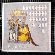 Tim Holtz Dies, Tim Holtz Stamps, Crazy Dog, Crazy Cats, Crazy Animals, Cat Cards, Kids Cards, Distress Ink, Ranger Ink