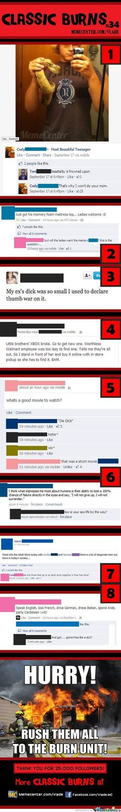 Of The Best Comebacks In The History Of Burns Comebacks - 32 hilarious facebook comebacks that burn too much to be forgotten