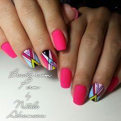 Nail Arts Fashion Designs Colors and Style Music Nails, Henna Nails, Nail Salon Decor, Glitter Manicure, Latest Nail Art, Geometric Nail, Homecoming Nails, Get Nails, Nail Shop