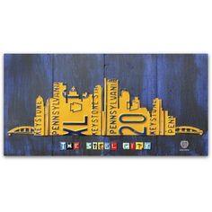 Trademark Fine Art 'Pittsburgh Skyline' Canvas Art by Design Turnpike, Size: 24 x 47, Multicolor