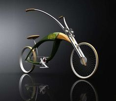 """Designer Mateusz Chmura has come up with The Grass Chopper – an elegant new bike """"mimicking the wings and folded legs of a grasshopper""""."""