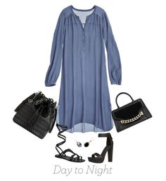 """""""Day to Night Shirt Dress"""" by polylana ❤ liked on Polyvore featuring Calypso St. Barth, Free People, Karl Lagerfeld, DKNY, Bling Jewelry, SOPHIE MILLER and DayToNight"""