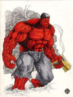 #Red #Hulk #Fan #Art. (Red Hulk) By: BrettBarkley. ÅWESOMENESS!!!™