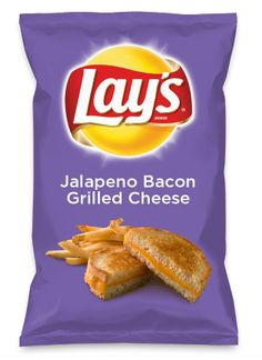 Lunch w/my daughter inspired a new game. Pick 2 fave flavors & come up w/Lay's Chip Ideas. Wrote them down. This is 1 of them! Wouldn't Jalapeno Bacon Grilled Cheese be yummy as a chip? Lay's Do Us A Flavor is back, and the search is on for the yummiest flavor idea. Create a flavor, choose a chip and you could win $1 million! https://www.dousaflavor.com See Rules.