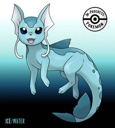 Floeon (Ice/Water) - On rare occasion, an Eevee can be affected by more than one environmental factor, and reacts to grow into a new, rare evolution. If an Eevee lives in an arctic region and is able to tolerate the frigid temperatures of the. Pokemon Rare, Pokemon Oc, Type Pokemon, Pokemon Memes, Pokemon Fan Art, Pokemon Stuff, Kawaii Drawings, Cute Drawings, Pokemon Original