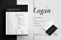 Resume/CV - Logan by bilmaw creative on All artwork and text is fully customisable; Easily edit the typography, wording, colors and layout. Each template uses a strong baseline/document grid which will allow you to edit or add to the layout very easily. Business Brochure, Business Card Logo, Business Card Design, Resume Cv, Resume Design, Cv Template, Resume Templates, Design Typography, Lettering