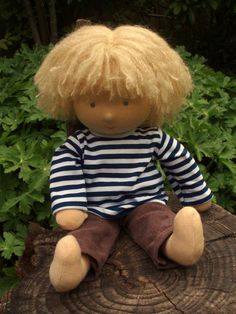 14 Waldorf doll blond boy blue eyes  made to by Waldorfdollshop