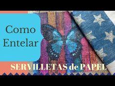 Entelado de Servilletas de Papel - YouTube Easy Diy Crafts, Crafts To Make, Arts And Crafts, Decoupage Tutorial, Smash Book, Mail Art, Diy Projects To Try, Sewing Tutorials, Handicraft