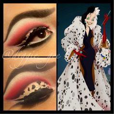 cruella deville makeup ideas | Cruella Deville inspired cut crease. | Beautylish
