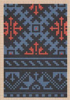 Aizpute Tapestry Crochet Patterns, Fair Isle Knitting Patterns, Needlepoint Patterns, Knitting Charts, Loom Patterns, Knitting Stitches, Cross Stitch Patterns, Mittens Pattern, Knit Mittens