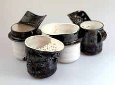 Чашки с ситом и язычком 0,19L https://www.facebook.com/potterymagic.ua/