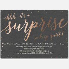 The Best Birthday Invitations—by a Professional Party Planner surprise party invitation 60th Birthday Ideas For Mom Party, 90th Birthday Parties, 60 Birthday, Birthday Gifts, Surprise Party Invitations, Surprise Birthday Invitations, Invites, Casino Night, Casino Party