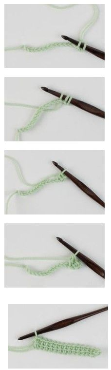 Learn how to work Linked Double Crochet stitches