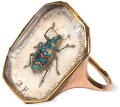 Antique beetle ring circa 1815