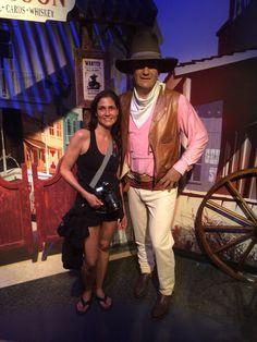 Con el famoso actor norteamericano John Wayne, apodado el Duke.