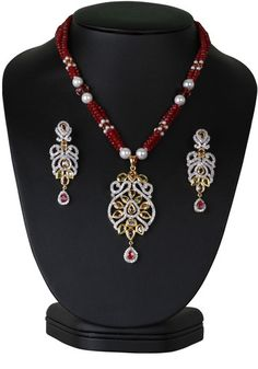 Elegant beaded necklace with simulated peridot and light purple stones cz pendant-CJBEAD46  http://www.craftandjewel.com/servlet/the-1922/Elegant-beaded-necklace/Detail
