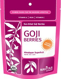 Goji Berries From Navitas Naturals + Superfoods