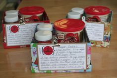 Baking Gift Sets (of course I would give the recipe for real frosting)