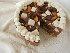 Raw rocky road mousse cake