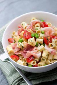 Macaroni Salad with Creamy Parm & Pesto Dressing