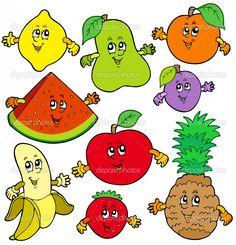 24 Mejores Imagenes De Frutas Animadas Dibujos Frutas Y Verduras