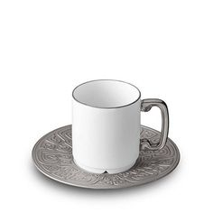 Han Platinum Espresso Cup & Saucer by L'Objet