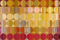 Circles and Squares 57.Golden Red. Signed & Numbered. Original limited…