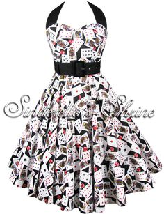 Hell Bunny ~PoKeR FaCe~ Vegas Cards Dice Casino Party 50's Prom Dress XL  53€