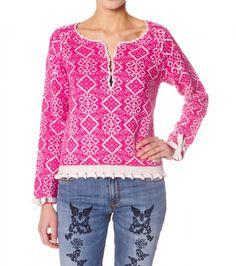 Odd Molly Jaquard Jumper 421, Dark Pink :: Bohemia