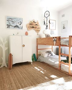 """IKEA KURA hack with plywood- Who would have thought that the the weekend were gone? Soooo tidy and clean. """"Beautiful light in the boy's room this afternoon . The bunk is still my favorite p Bedroom Wall, Bedroom Decor, Bedroom Lighting, Bedroom Lamps, Wall Lamps, Modern Bedroom, Cozy Bedroom, Kids Room Lighting, Stylish Bedroom"""