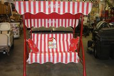 Rare Coca Cola Porch Glider Swing I actually stumbled upon one of these today at an antique store, it is only $125.00, I'm going back tomorrow and getting it FOR SURE! :)