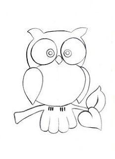 1c23e0650 Muitos desenhos, moldes e riscos de corujas lindas! Coruja para pintar,  colorir, imprimir! - Espaço Educar desenhos para colorir