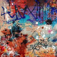 A Messy Graffiti Wall Background Wall Mural - Vinyl ✓ Easy Installation ✓ 365 Day Money Back Guarantee ✓ Browse other patterns from this collection!