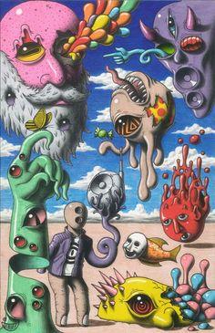 "Jimmy Alonzo on Twitter: ""#abwip I'm Jimmy Alonzo 😝… "" Arte Indie, Indie Art, Hippie Painting, Trippy Painting, Art Sketches, Art Drawings, Arte Grunge, Hippie Wallpaper, Retro Wallpaper"