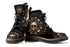 Skulls & Bones Black Boots. THESE MUST BE MINE!!!