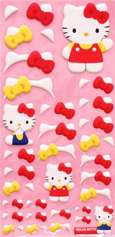 Hello Kitty sponge stickers and felt stickers from Japan
