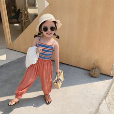 Wholesale Girl Waistcoat Striped Jacket Bottom Shirt 19 Summer Dress Children's Clothes Years Old from Our website with high quality and fast shipping worldwide. Girls Fashion Clothes, Kids Fashion, Fashion Dresses, Girls Summer Outfits, Girl Outfits, Summer Dresses, Baby Girl Tights, 8 Year Old Girl, Striped Jacket