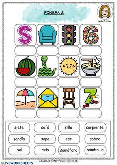 Preschool Curriculum, Preschool Activities, Homeschool, Spanish Activities, Teaching Spanish, Handwriting Worksheets, School Subjects, Busy Book, I School