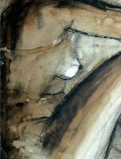 Dessin au fusain et lavis © Valérie le Merrer