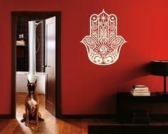 Wall Decal Vinyl Sticker Decals Art Decor Design Hamsa Hand yin yang  Indian Buddha Ganesh Lotos Modern Bedroom (r140) on Etsy, $28.99