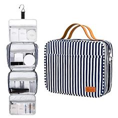 Hanging Travel Toiletry Bag, Large Capacity Cosmetic Travel Toiletry Organizer for Women with 4 Compartments & 1 Sturdy Hook, Perfect for Travel/Daily Use/Valentine Gifts for Her/Women : Beauty Travel Cosmetic Bags, Travel Toiletries, Travel Bags, Handbag Organization, Travel Organization, Best Luggage, Luggage Sets, Valentines Gifts For Her, One Bag